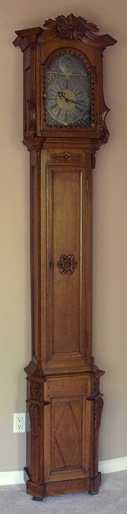 A Belgian oak longcase clock, dated 1801  (K11)