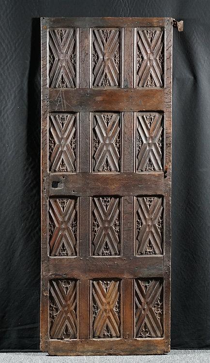 A rare Gothic oak door, Flemish, late 15th century (V14)