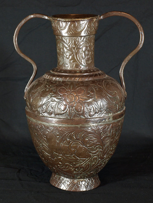 An Italian amphora-form copper vessel, 17th/18th century  (Q27)