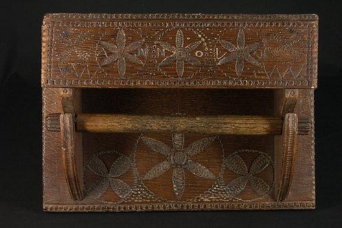 A South Netherlandish oak towel rack, dated 1791  (F04)