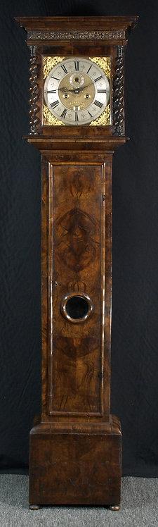 An English walnut longcase clock, Simon De Charmes, circa 1690 (S18)