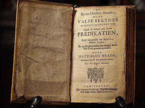 Mattheus Meade, Amsterdam, 1687  (W01)