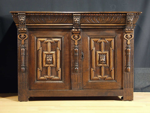 A Flemish renaissance 2-door cupboard, 17th century  (H25)
