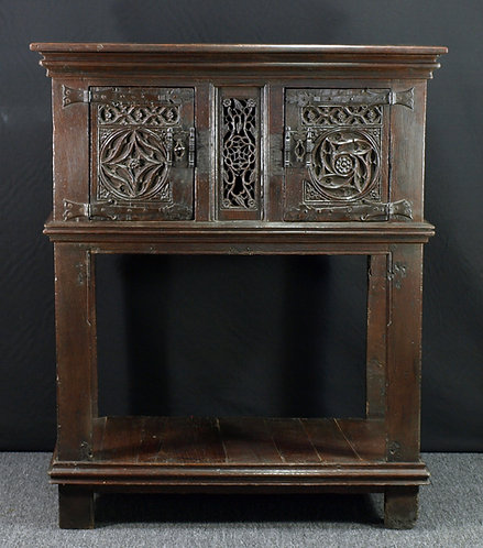 A French gothic oak credence, late 15th / early 16th century  (R06)