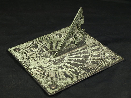 An English bronze sundial, dated 1705 (T09)