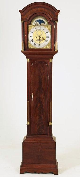 An English mahogany longcase clock, Marmaduke Storr, London, 18th century  (U20)