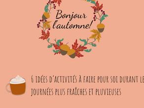 6 idées d'activités à faire pour soi durant les journées d'automne