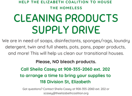 Wanted: Cleaning Products, Supplies for our Transitional Housing!