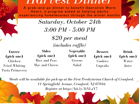You're Invited! Harvest Dinner for Operation Warm Heart