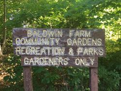Entrance Sign to Baldwin Park