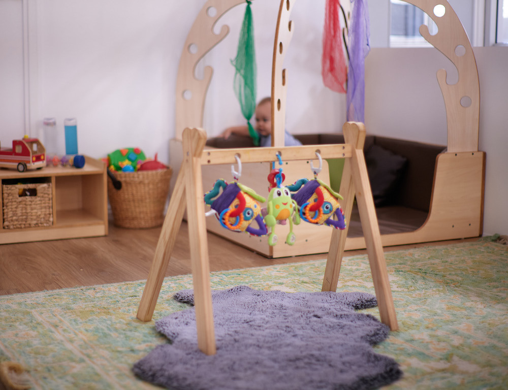 Baby room with baby toys and baby