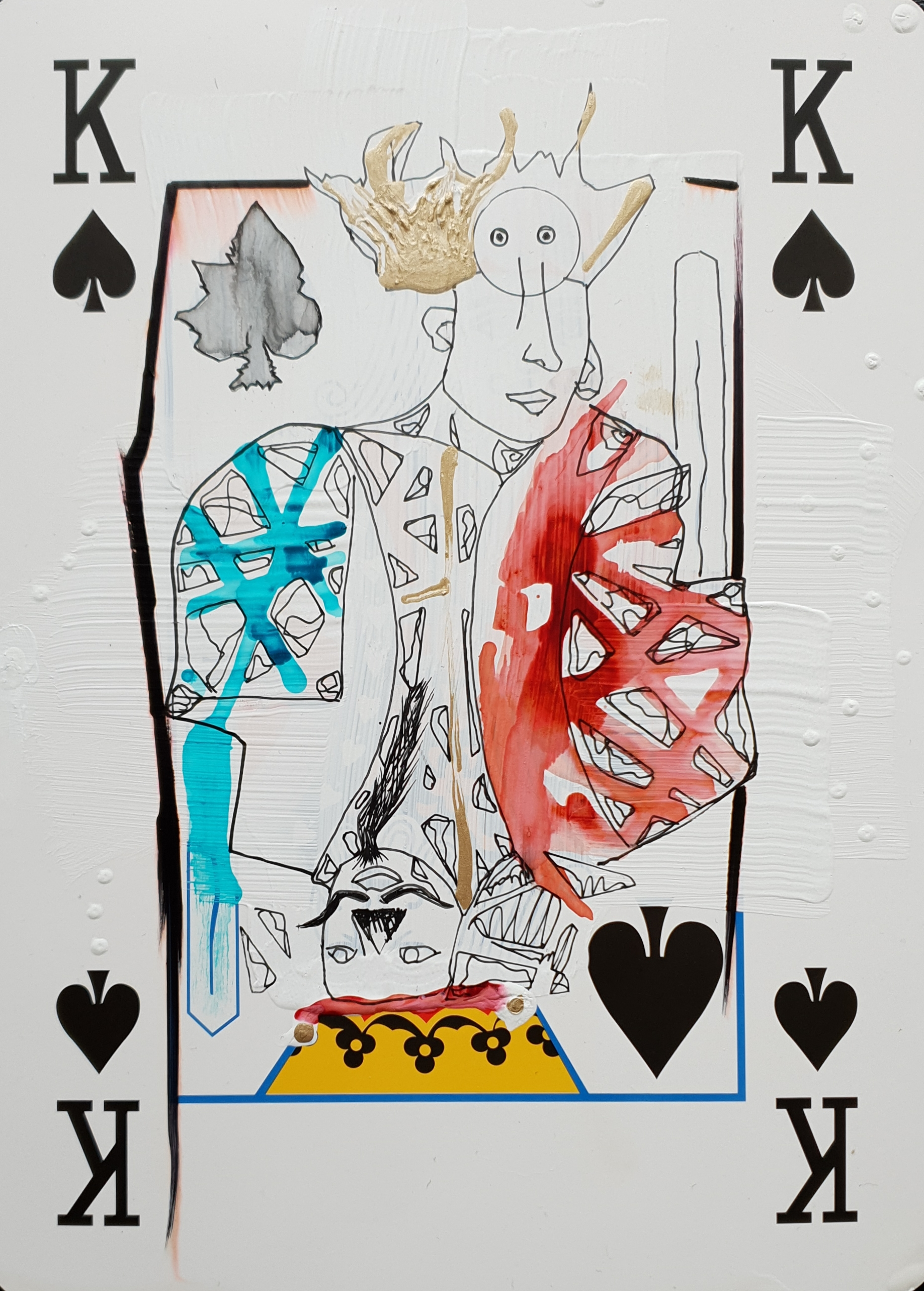 """Playing K cards III"", 2562"