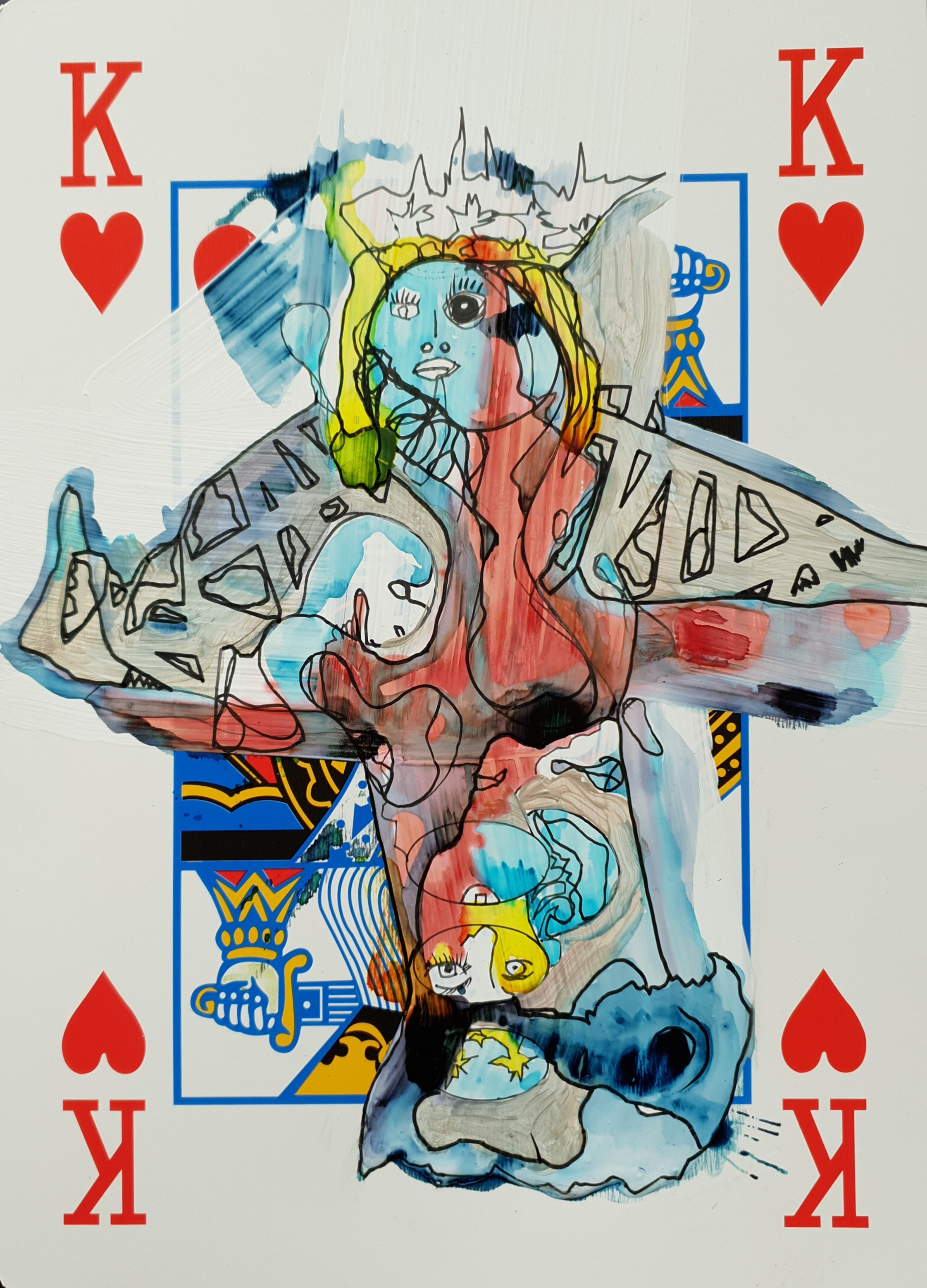 """Playing K cards II"", 2562"