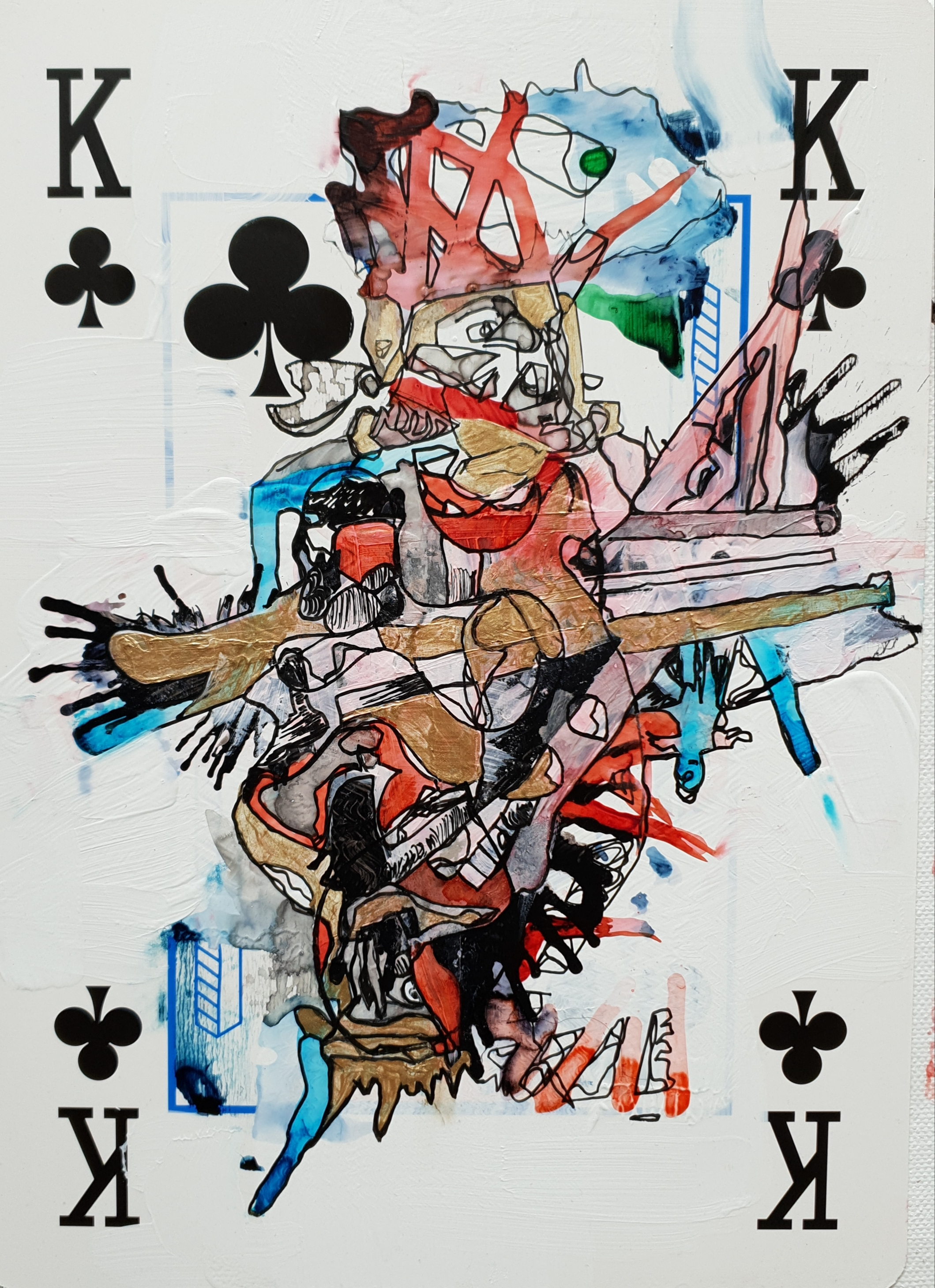 """Playing K cards"", 2562"