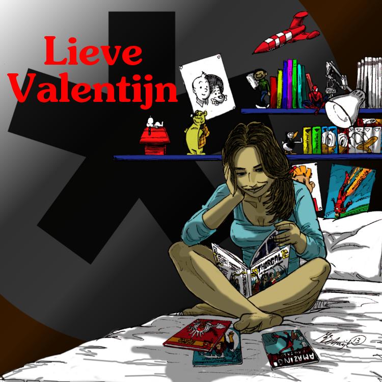 Strips als Valentijn