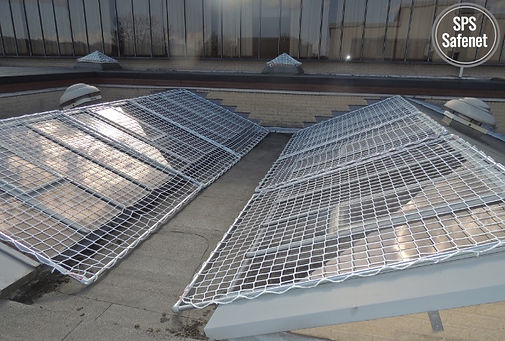 skylight protection system safetube safety net SPS roof fall protection