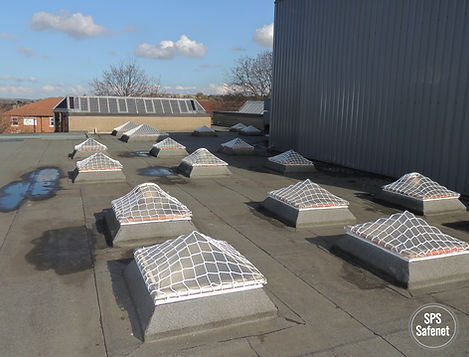 SPS safenet skylight protection pyramids roof