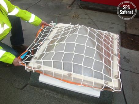 Skylight Safety Nets Reduce the Risk on Flat Roofs