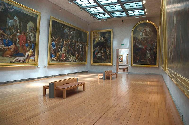 Vue d'une salle des collections de peintures du musée des Beaux-Arts de Lyon présentant des oeuvres du XVIIe siècle @Tancèdre