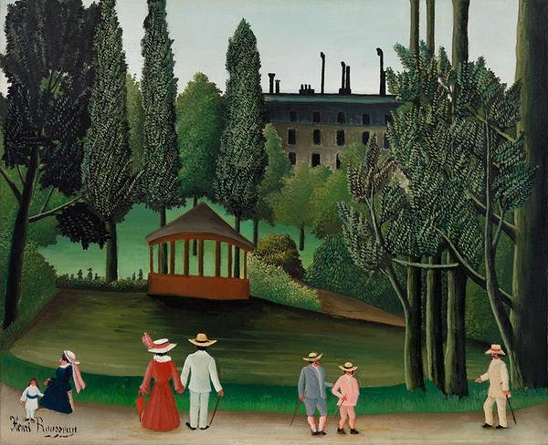Peinture du Parc Montsouris à Paris, réalisée par le peintre Henri Rousseau.
