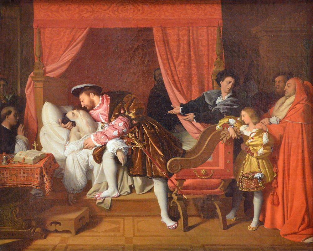 La mort de Léonard de Vinci Jean-Auguste-Dominique Ingres 1818