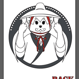 """Wankomachi"" original character/logo design. [Back](「ワンこまち」オリジナルキャラクターデザイン 後ろ)"