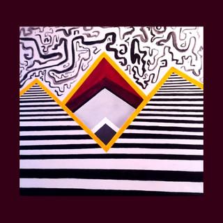 """""""Pyramid in the Horizon."""" Acrylic on canvas. (「地平線のピラミッド」 キャンバス絵画 アクリル)"""