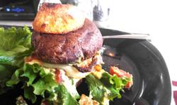 Whole 30 Burger with Mushroom Bun