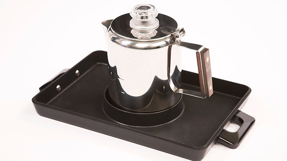 Stainless Steel Coffee Pot and Non Stick Base