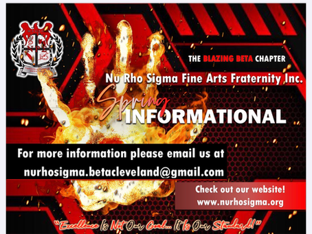 BETA CHAPTER SPRING INFORMATIONAL