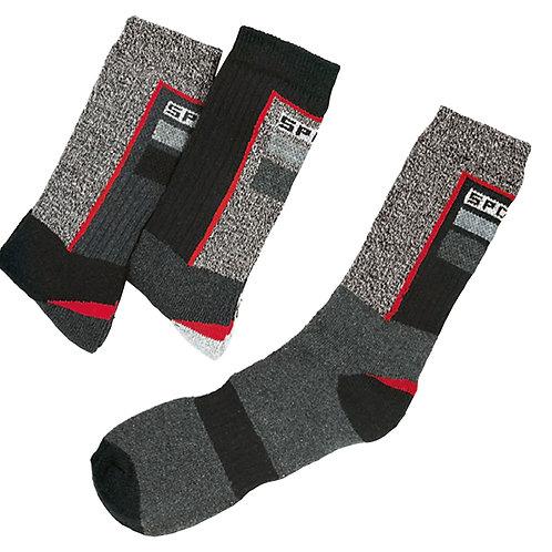 Sport- und Funktionssocken schwarz/grau meliert, 3 Paar