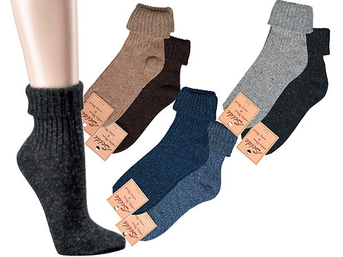 Seide/Wolle Socken dünn, 2 Paar