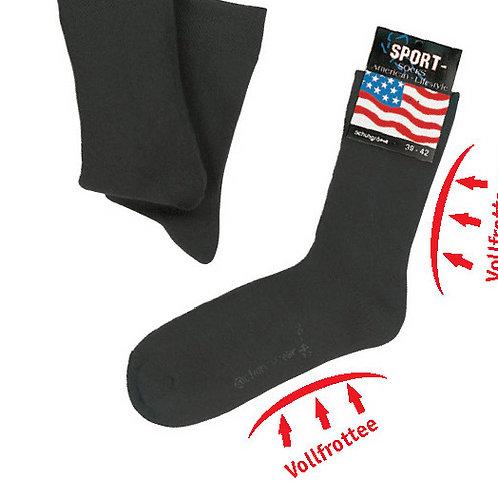 Sport- und Funktionssocken schwarz, 3 Paar