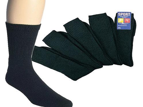 Sportsocken / Tennissocken schwarz, 5 Paar