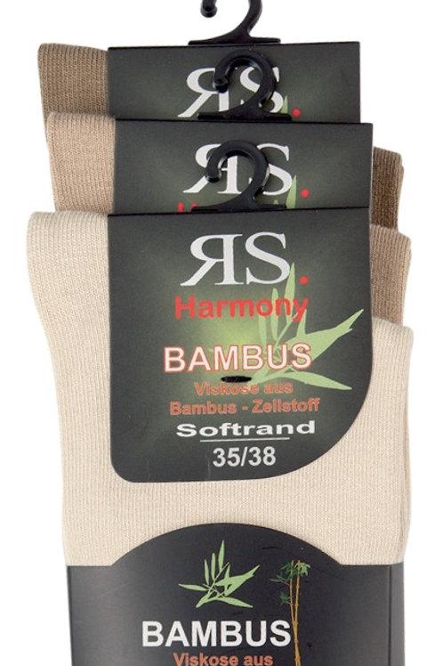 Bambussocken Naturfarben assortiert, 3 Paar