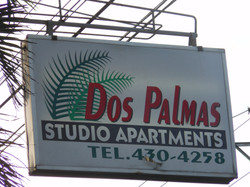 Sign for Dos Palmas