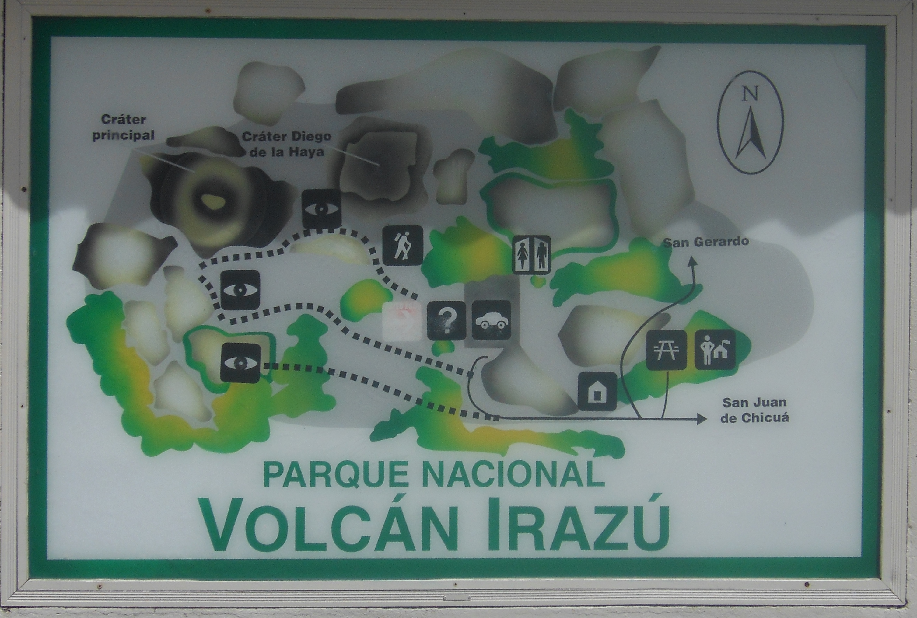 Map of Irazu Volcano