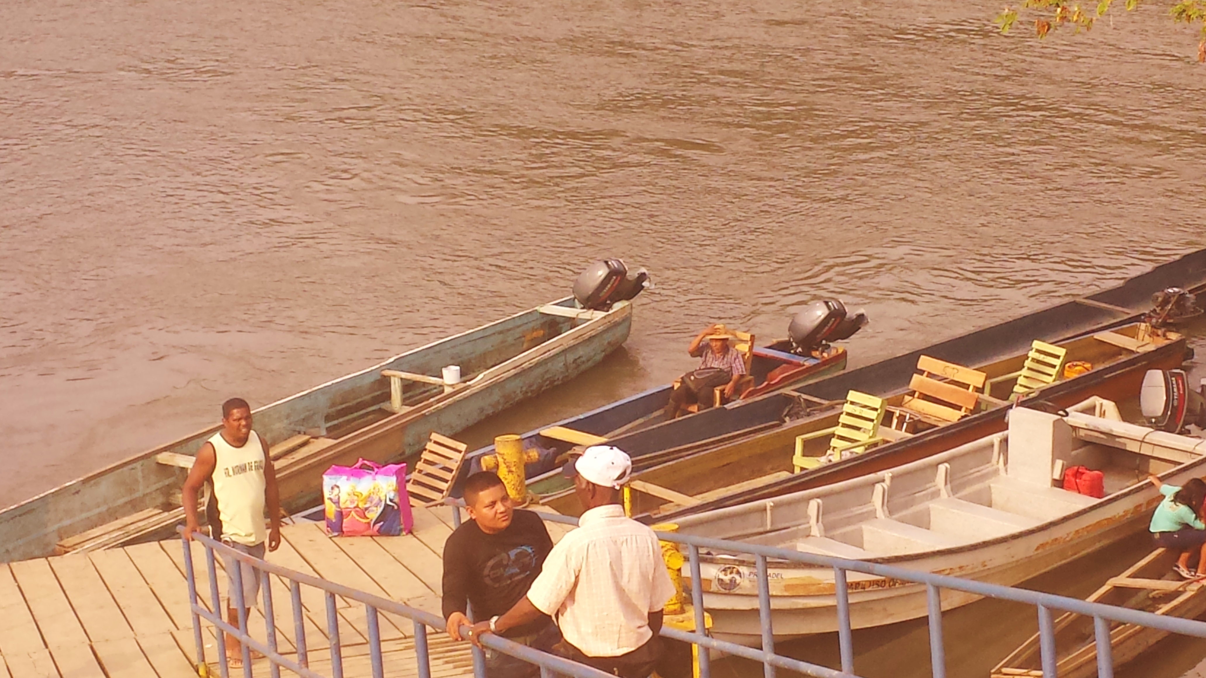 Man waiting for the river ferry