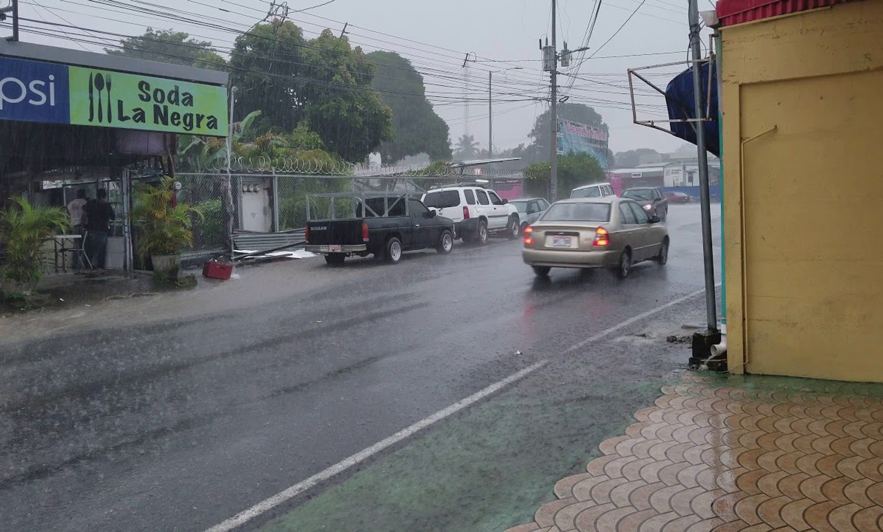 Afternoon Rains at Paso Canoas, Costa Rica