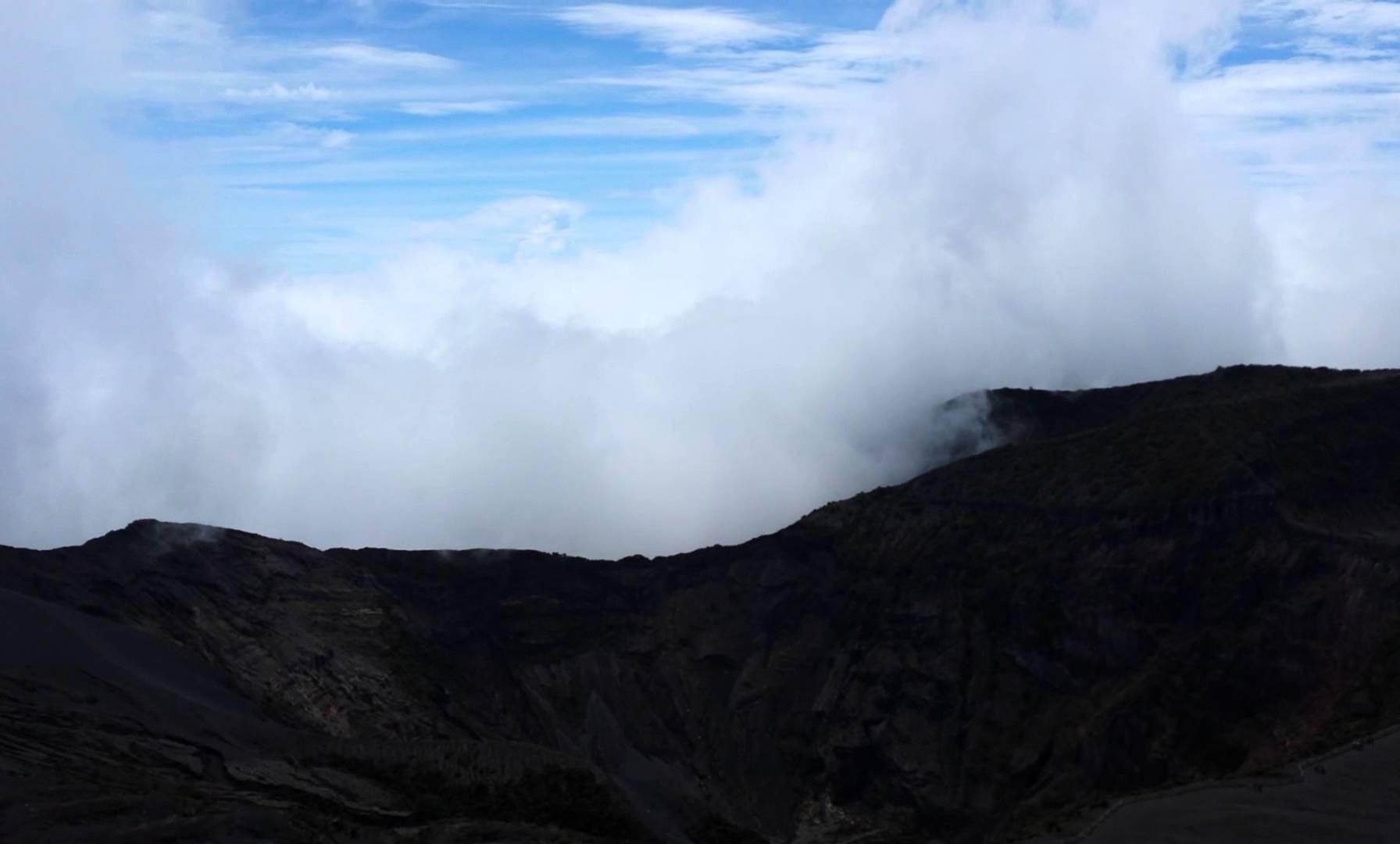 Clouds Rolling through Volcan Irazu near San Jose, Costa Rica