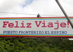 Sign for El Espino Border Crossing