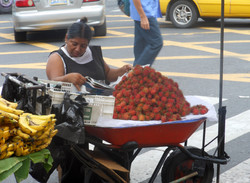 Selling lychee