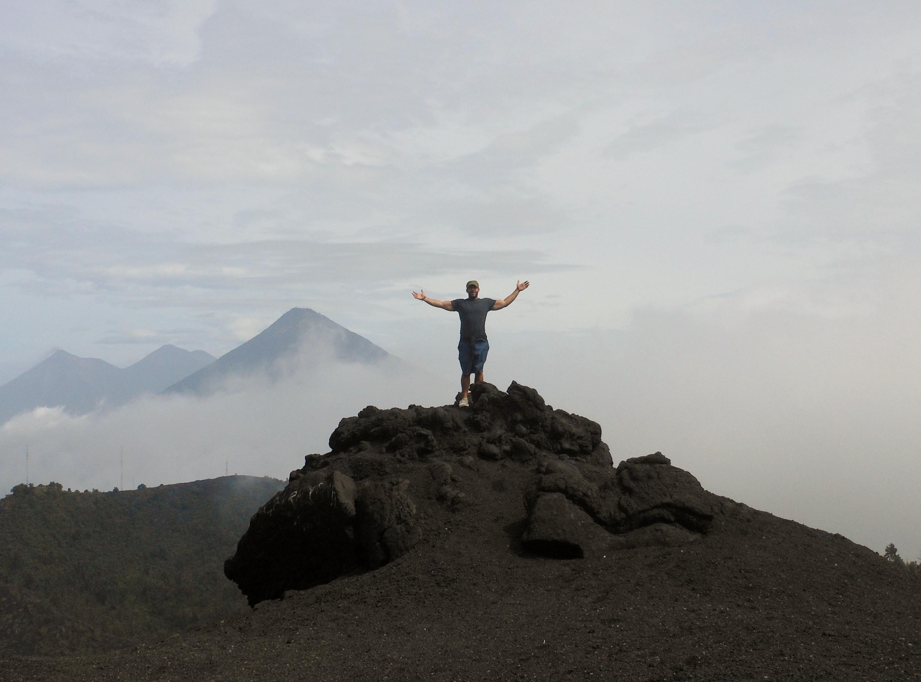 Standing atop Volcan Pacaya