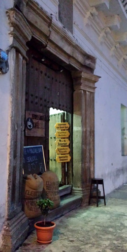 Coffee shop in Antigua