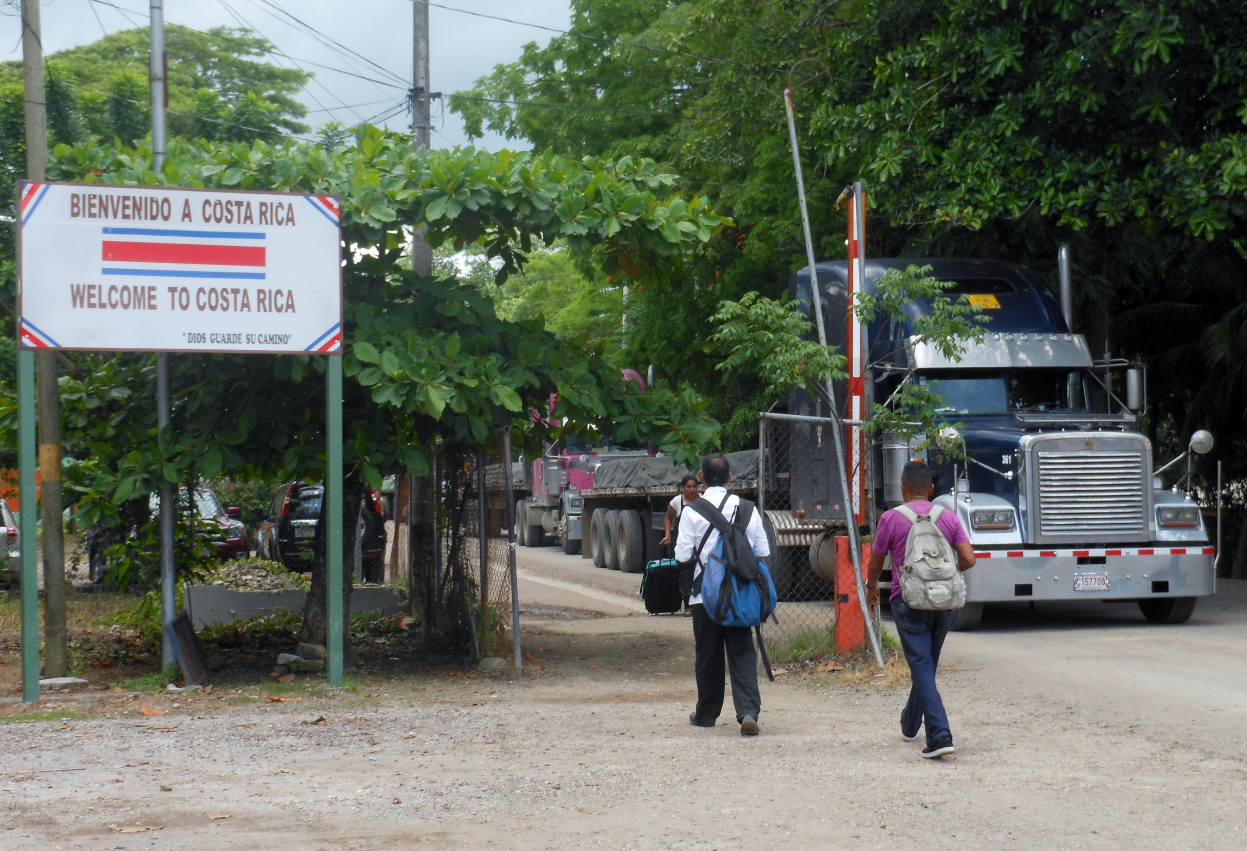 Entering Costa Rica