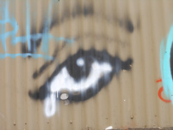 Crying Eye graffiti