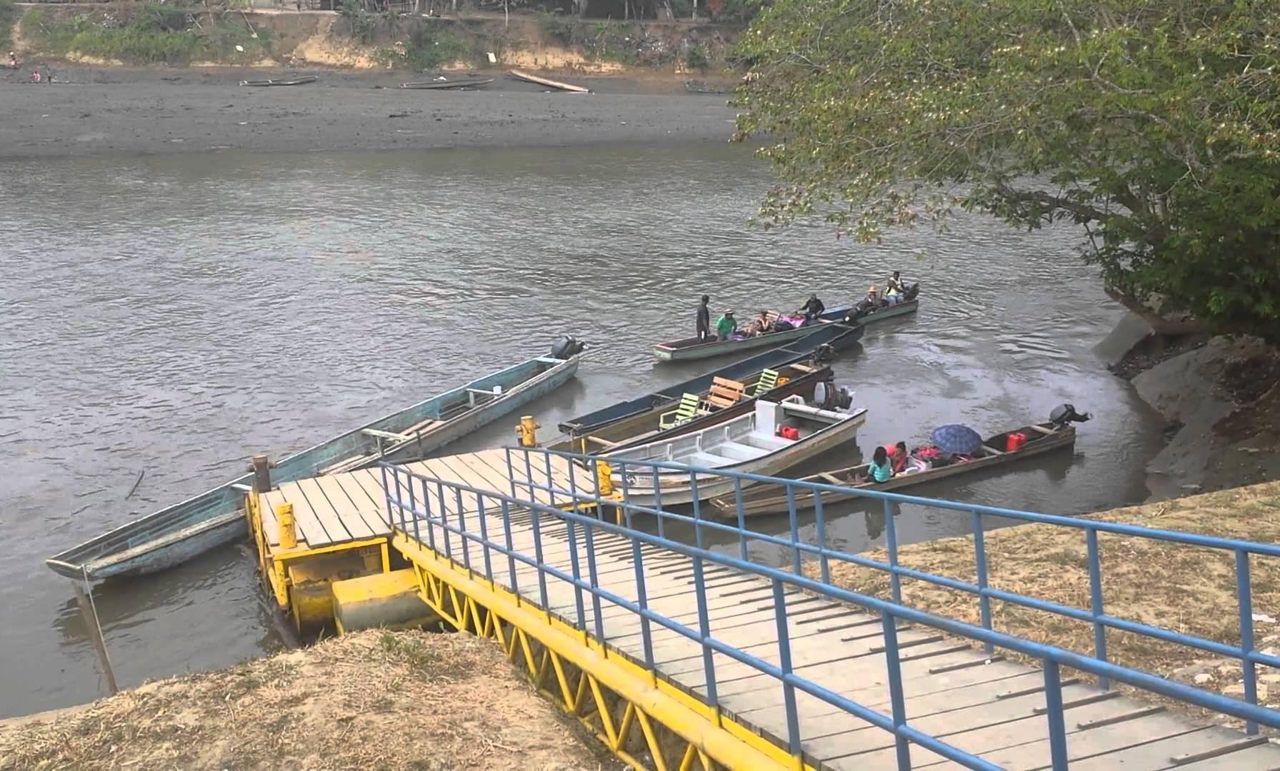 River Ferry Shuttling Passengers in Yaviza, Panama