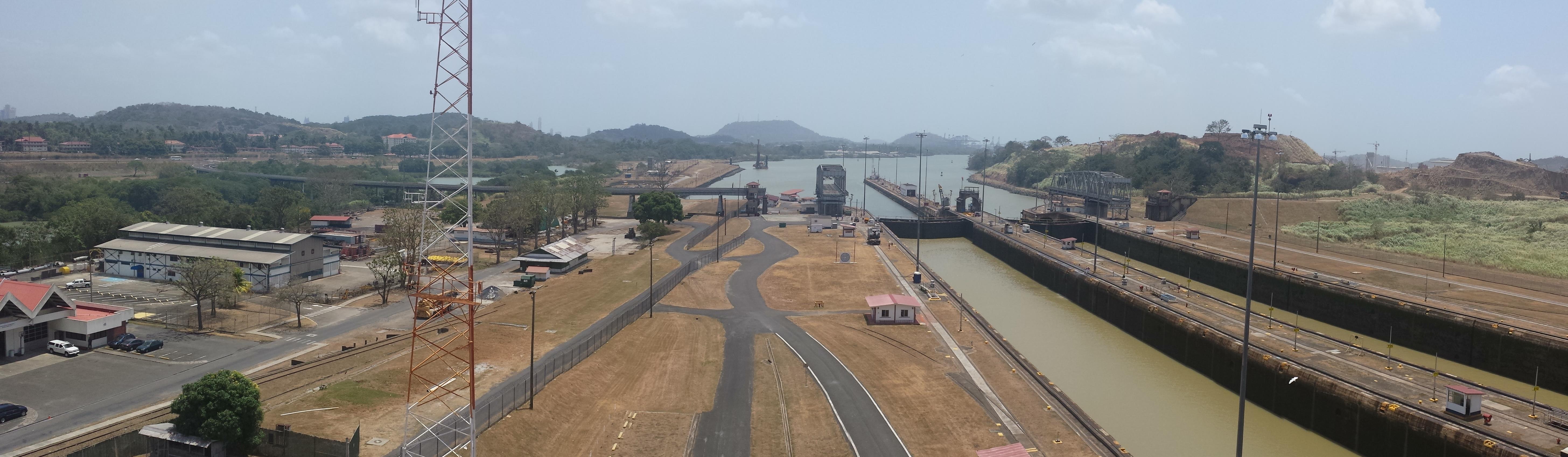 Panorama of the Miraflores Locks