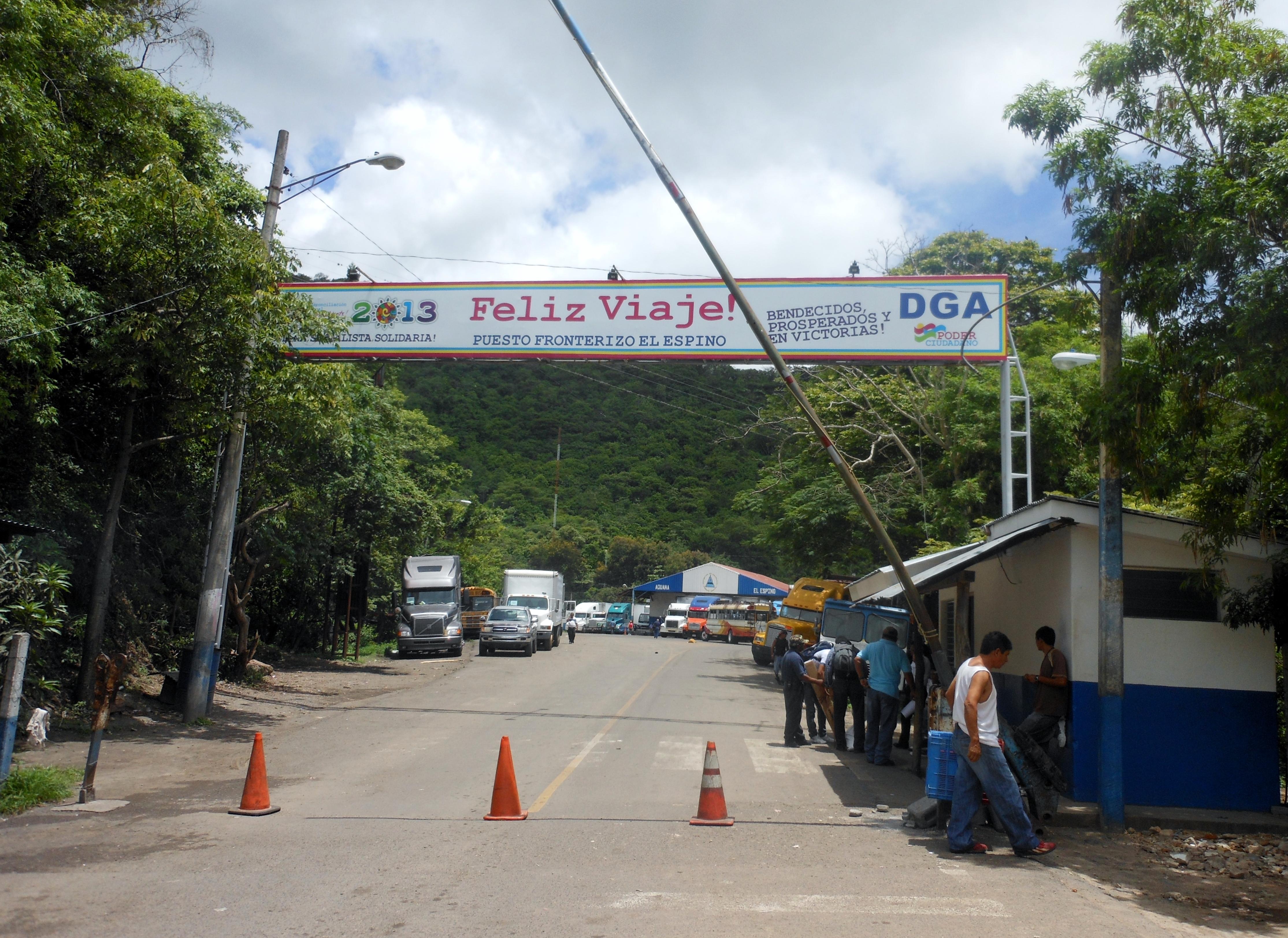 Exiting Nicaragua