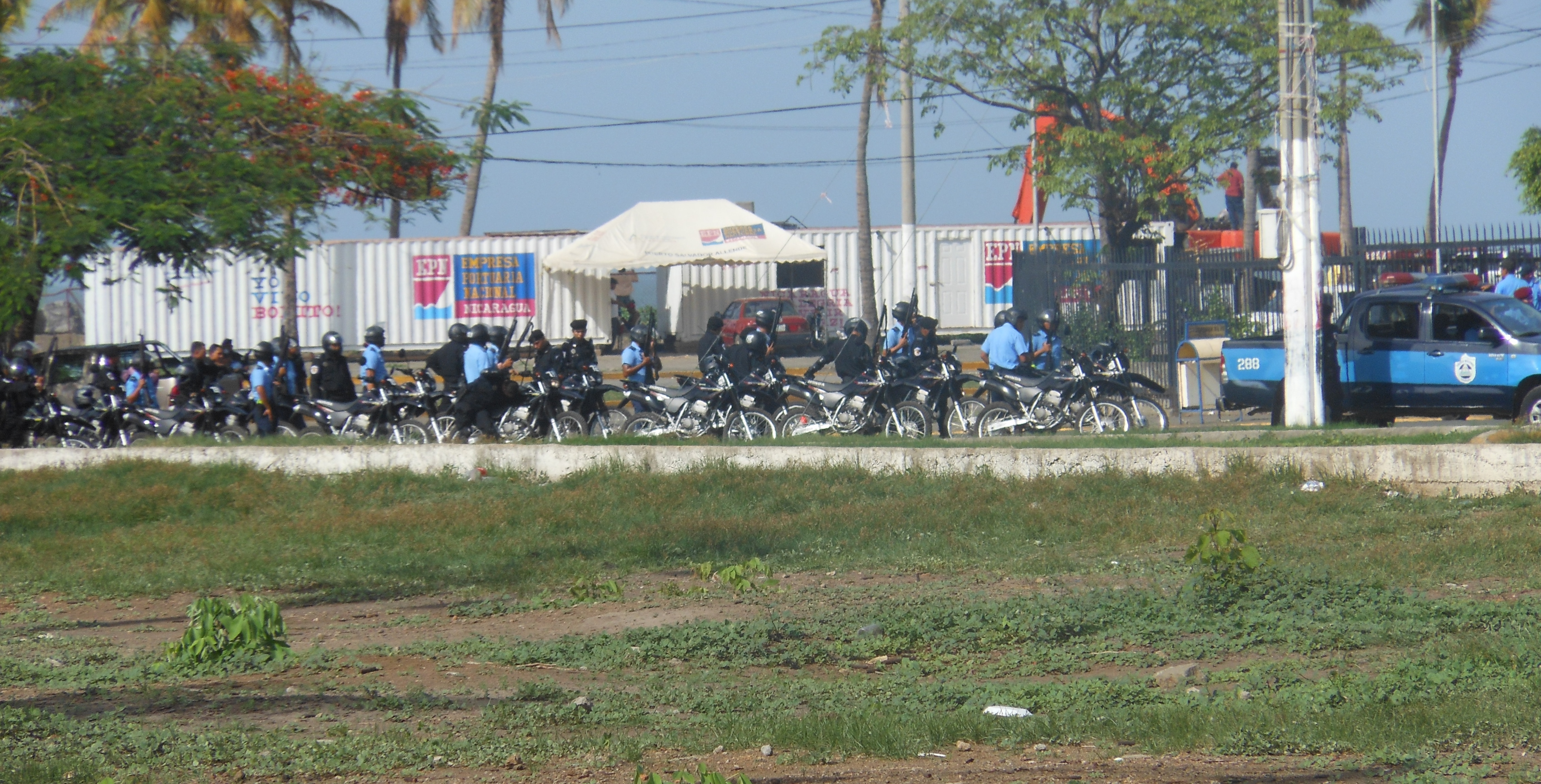 Police Reinforcements in Managua